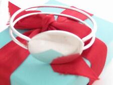 "Tiffany & Co Silver Oval Id Bangle Bracelet 7"""