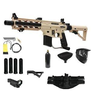 TAN Tippmann US Army Project Salvo Paintball Gun Player ADP Red Dot Sniper Pack