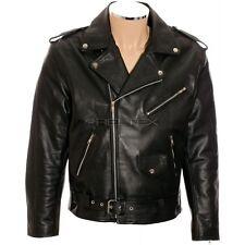 """RTX Brando Classique Johnny The Wild One Noir CE Cuir Motard Veste XL 44"""" EU54"""