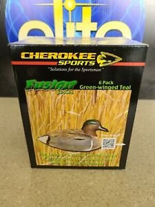 Cherokee Sports Decoys Fusion Series 6 Pack Green - Winged Teal