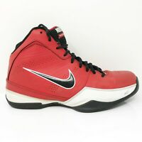 Nike Mens Air Quick Handle 472633-600 Red Black Basketball Shoes Lace Up Size 8