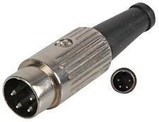 4 PIN NICKEL STANDARD DIN PLUG Connectors Audio Video Connectors