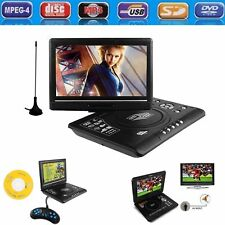 9.8 Inch Portable CD DVD Player 270° Swivel Screen AV TV FM USB with Car Adapter