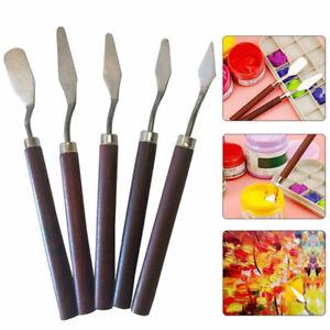 5x Malspachtel Farbspachtel Künstlerspachtel Spachtel Malmesser Palettenmesser