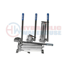 Brand Hydraulic Manual Hand Operated Pump HP121DA50 50 cu in Reservoir 2000psi