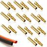10x PAIR Of RC 4mm Gold Bullet Connector INC Heat Shrink Li-po Battery ESC Motor