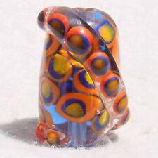 HOPSCOTCH Handmade Art Glass Focal Bead Flaming Fools Lampwork Art Glass SRA