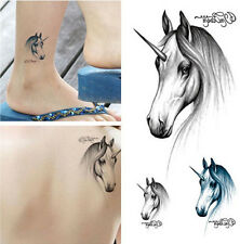 unique Temporary Tattoo Waterproof Removable horse head Stickers Body Art Tattoo