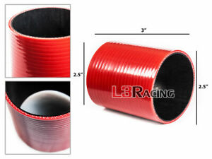 """RED 2.5"""" 63mm 3-ply Silicone Hose Coupler Turbo Intake Intercooler For Acura"""