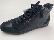 Geox Myria black leather & suede Hi-top trainers, UK 6/EU 39, RRP £110, BNWB