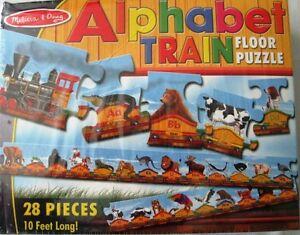 Melissa & Doug Alphabet Train Floor Puzzle 10 ft Long 28 pcs NIB New 3+