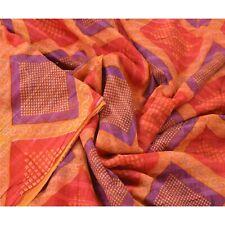 Sanskriti Vintage 100% Pure Cotton Saree Printed Sari Craft Soft Decor Fabric