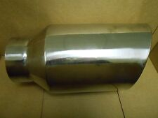 """SS50815RAC STAINLESS STEEL EXHAUST TIP 5"""" INLET 8"""" OUTLET 15"""" LONG"""