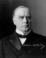 WILLIAM MCKINLEY - Repro-Autogramm 20x25cm Großfoto (25. US Präsident)