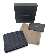 BOTTEGA VENETA Black Intrecciato Woven Bifold Wallet
