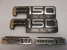 03 Ford F-150 XLT Triton V8 Fender Emblem Right & Left Nameplate OEM