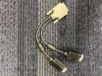 NEW TRIPP LITE - PRO AV P120-001-2 1FT DVI TO VGA Y SPLITTER CABLE ADAPTER