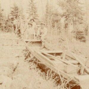 1918 High Falls Canada Boat Fishing Men RPPC CA