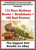 100 + Vintage Rare Railway Books inc Bradshaws + 200 Rail Poster Free on disc