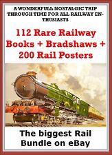 100 + Vintage Rare Railway Books inc Bradshaws + 200 Rail Poster Free on disc