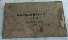 USA Soldier's Handbook 1905 5th Battery Field Artillery Sergeant Joseph Bye