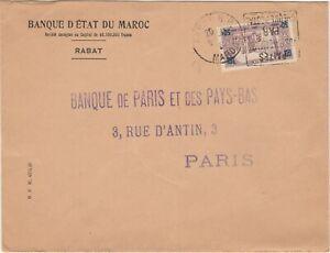 """Perfins. Morocco. cover Banque d'Etat du Maroc.  perfin """"BEM"""" (large)"""