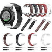 Wachs Leder Armband Uhrenarmbänder Ersatz 20mm für Garmin Fenix6S Fenix5S Plus