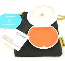 For Invisalign Aligner Retainer Case White Orange Travel Organizer