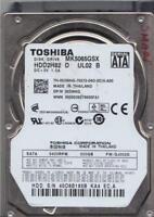 MK5065GSX, GJ002D, HDD2H82 D UL02 B, Toshiba 500GB SATA 2.5 Bsectr HDD