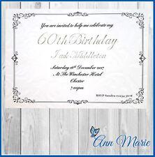 10 x 60th BIRTHDAY PARTY INVITATION CARDS BIRTHDAY INVITES WITH ENVELOPES