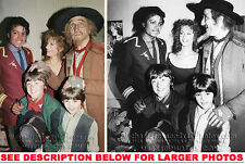 MICHAEL JACKSON 1986 with OLIVER CAST 2xRARE PHOTOS