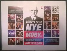 Streets of SF New Years Eve MOBY dj set Aaron Axelsen kiosk sign Ft Mason 2013