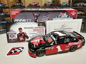 Michael Annett #1 Pilot / Flying J Autograph Daytona 2019 Win 1/24 Diecast
