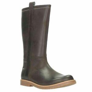 BNIB Clarks Girls Tildy High Dark Brown Leather Gore Tex Boots F/G Fitting