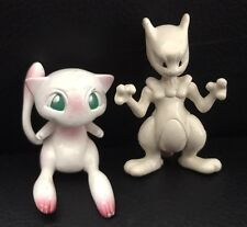 Rare Mew & Mewtwo NINTENDO TOMY Vintage Pokemon Go Toy Retro 2 Figure Bundle