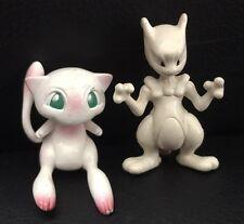 Rare Mew et Mewtwo Nintendo Tomy vintage Pokemon aller Jouet Rétro 2 Figure Bundle
