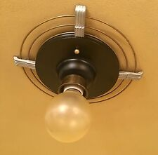 Vintage Lighting 1930s Moderne hall fixture. More Available