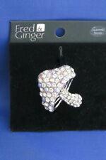 Fred & Ginger Swarovski Crystals Toadstool Brooch on card