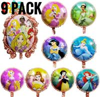 Disney Princess Birthday Party Balloons Foil Balloons Princess decoration 9pack
