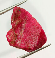 41 Crt 100% Natural Untreated Unheated Red Ruby Rough Loose Gemstone AZ16