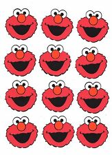 "Elmo Party Decorations , 50 faces, 2-14"" tall x 2-1/2"" w, layered"
