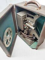 Vintage 1930s Keystone Model R-8 Reel to Reel Movie Projector W/ Case NEEDS BELT