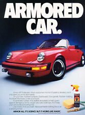 1985 Porsche 911 Convertible Armor All Original Advertisement Car Print Ad J505