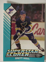 1993 Starting Lineup Brett Hull Superstar St. Louis Blues Kenner NHL Hockey Card