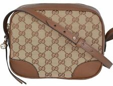 Gucci Bree Guccissima GG Leather Canvas Crossbody Shoulder Bag 449413 AUTHEN