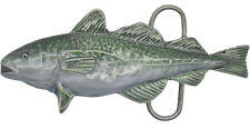 Fishing - Cod Pewter Belt Buckle