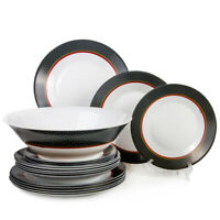 Luminarc Glass 19 pc Dinnerware Set Alto Saphire. Made in France Break-Resistant