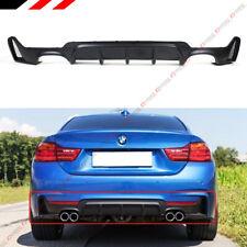 For 14-19 BMW F32 F33 F36 4 Series M Sport Rear Bumper Diffuser Quad Exhaust Tip
