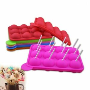 Silicone Lollipop Cake Chocolate Candy DIY  3D Mold Tool Cake Decor With Sticks