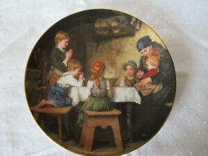 "Antiker Porzellan Wandteller,LILIEN AUSTRIA 1987, ""DAS Tischgebet"" Nr.6895P"